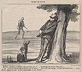 Eh! bien, monsieur Caboulot, vous ne venez pas?...., from Croquis de Chasse, published in Le Charivari, October 6, 1859 MET DP876773.jpg