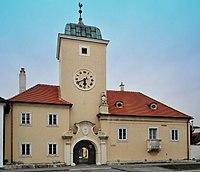 Ehem Rathaus 11356 in A-2452 Mannersdorf am Leithagebirge.jpg
