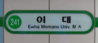 Ewha Womans University station - Ewha Womans University Station