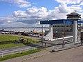 Eidersperrwerk Ansicht von Nord Anlage mit Klappbrücke Kontrollturm Schleuse Eider Nordsee Foto Wolfgang Pehlemann IMG 0264.jpg