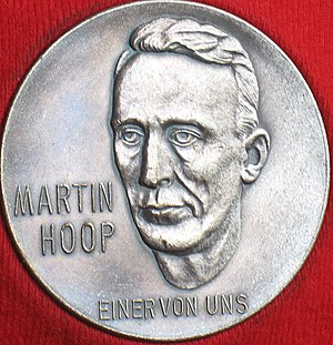 """Martin Hoop - """"One Of Us"""" Medal of Honor issued by the trade union of coal miners Martin-Hoop-Werke, Zwickau"""