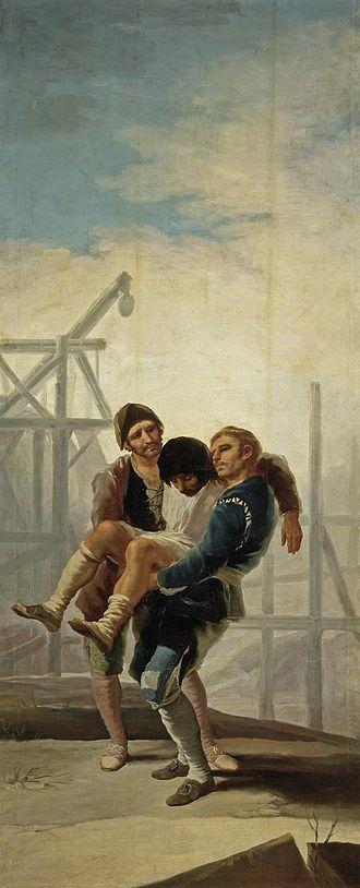 Bricklayer - Image: El albañil herido