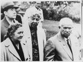 Eleanor Roosevelt, Nikita and Mrs Khrushchev, and Andrei Gromyko at the Franklin D. Roosevelt Library in Hyde Park - NARA - 196281.tif