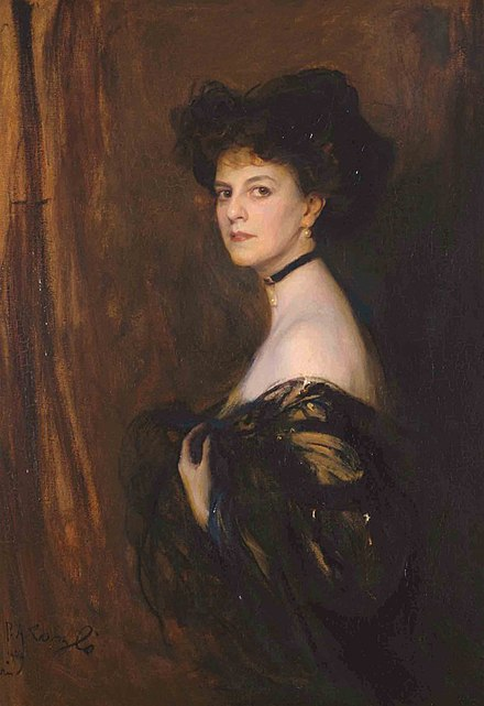 Elisabeth, Countess Greffulhe 1905, by Philip Alexius de Laszlo, who served as the model for the character of the Duchesse de Guermantes Elizabeth, Comtesse Greffulhe 1905 , by Philip Alexius de Laszlo.jpg
