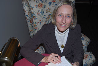 Elizabeth Hay (novelist) - Elizabeth Hay signing her book Late Nights on Air at the Port Colborne Author Series