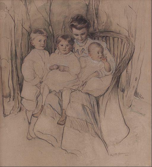 Elizabeth Nourse - Mother and Three Children - Google Art Project