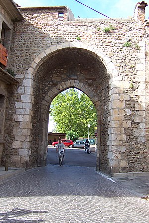 "Elne - The ""Perpignan Gate"" leads towards Perpignan"