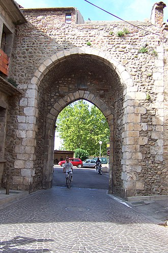 "Elne - The ""Perpignan Gate"" leads towards Perpignan"