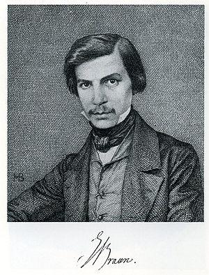 August Emil Braun - Braun portraited by an unknown artist, ca. 1840/45