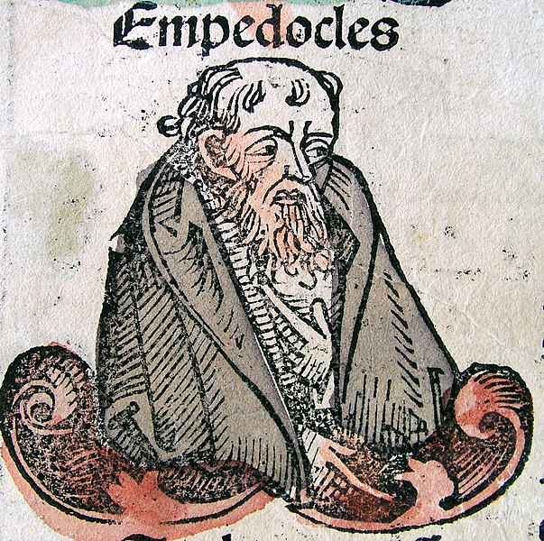 Empedocles in the Nuremberg Chronicle. Public Domain.