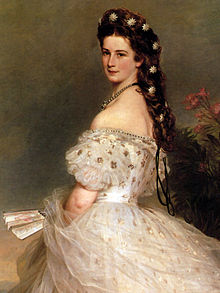 eae62be4f2f Empress Elisabeth of Austria in Courtly Gala Dress with Diamond Stars by  Franz Xaver Winterhalter)
