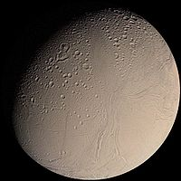 Figure 1: Enceladus as seen by Voyager 2, August 26, 1981