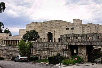 Los Feliz, Los Angeles - The Ennis House, designed by Frank Lloyd Wright