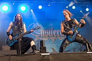 Ensiferum - Sami Hinkka and Petri Lindroos with Ensiferum at Rockharz festival 2016 in Germany