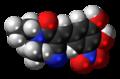 Entacapone molecule spacefill.png