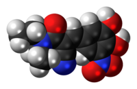 Space-filling model of entacapone