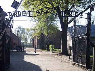 Arbeit macht frei - At Auschwitz I