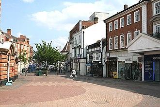 Epsom - Image: Epsom High Street from the Clock Tower