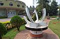 Equatorial sun dial at Pathani Samanta Planetarium compound in Bhubaneswar, Odisha, India..JPG