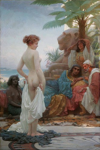 Ernest Normand - The White Slave, an Orientalist nude by Ernest Normand