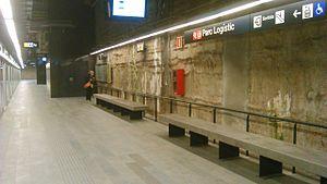 Parc Logístic (Barcelona Metro) - Parc Logístic platform