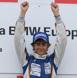 Esteban Gutiérrez - Gutiérrez winning the 2008 FBMW Europe championship