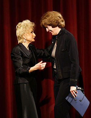 Rebbetzin - Rebbetzin Esther Jungreis (left) with US Ambassador to Hungary, April Foley