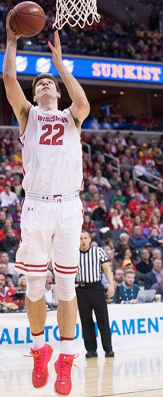 Ethan Happ - Happ playing for Wisconsin