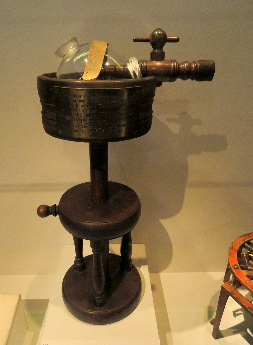 Ether inhaler, c. 1846, developed by William T. G. Morton - National Museum of American History - DSC06167