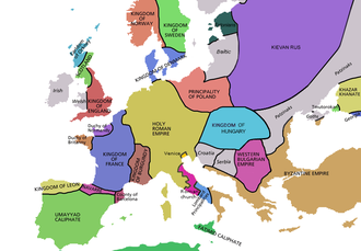 History of Western civilization - Europe in 998.