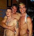 Evan, Trent and Josh at Tin Room Dallas on 5-18-12. (7238549864).jpg