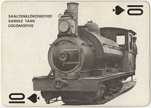 CGR 1st Class 2-6-0ST - Image: Ex CGR 1st Class Kitson, SAR no. 0416 on Playing Card