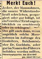 Führerbefehl April 1945 - Panzerbär.jpg