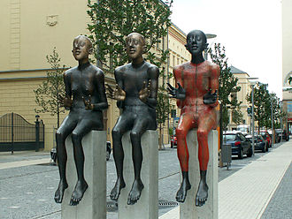 "Toleration - Sculpture Für Toleranz (""for tolerance"") by Volkmar Kühn, Gera, Germany"