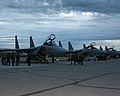 F-15DJ (074) of 305 Sqn and F-15J (915 & 963) of 204 Sqn parked on the flight line at Eielson Air Force Base, -11 Jul. 2007 a.jpg