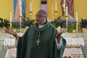 Daniel E. Garcia - Garcia preaches at Holy Trinity Church, Texas, in 2018