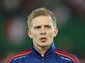 Hjalgrím Elttør - Image: FIFA WC qualification 2014 Austria vs Faroe Islands 2013 03 22 Hjalgrím Elttør 01