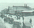 FMIB 45166 Standard Plant from Outside Twenty-five automobiles owned by various employees shown in foreground - Standard Gas Engine Company.jpeg