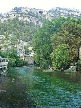 La Sorgue à Fontaine-de-Vaucluse