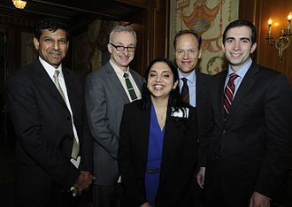 Sheena Iyengar - Sheena Iyengar (center) and other authors shortlisted for the 2010 Financial Times and Goldman Sachs Business Book of the Year Award