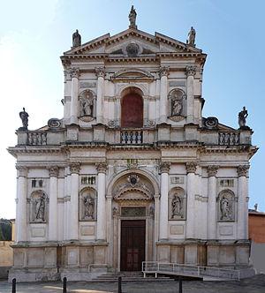 San Marco in San Girolamo - Facade of the Church of San Marco in San Girolamo, front view.
