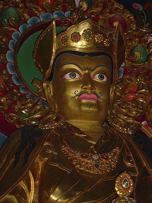 Dubdi Monastery - Image: Face of Buddha in a monastry in Yuksom