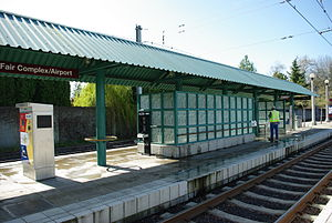 Fair Complex-Airport MAX Station - Hillsboro, Oregon.JPG