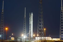 Falcon 9 preparing to launch CRS-5 Dragon (16077174114).jpg