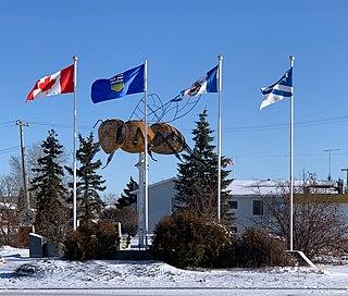 Falher Town in Alberta, Canada
