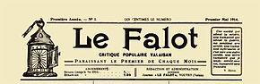 The Falot, el titular del primer número, en mayo de 1914.