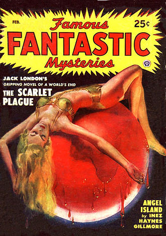 Disease in fiction - Jack London's 1912 The Scarlet Plague was reprinted in the February 1949 issue of Famous Fantastic Mysteries