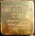 Fanny Katzenstein Stolperstein tom.JPG