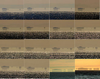 Fata Morgana (mirage) - A sequence of a Fata Morgana of the Farallon Islands as seen from San Francisco