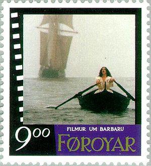 Anneke von der Lippe - Anneke von der Lippe on a Faroe stamp